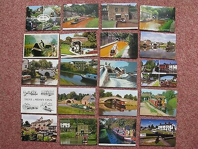 #12 -  20 x TRENT AND MERSEY CANAL POSTCARDS