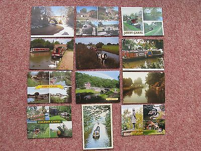 #7 - 12 x ASHBY AND CALDON CANAL POSTCARDS