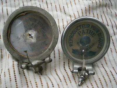 2 Pathe Brevte concert Reproducer gramophone Victor columbia talking machine