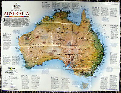 Australia / Continental Odyssey   National Geographic Map / Poster Feb 1998