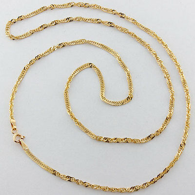 Hallmarked 9 ct Gold Fancy Italian Twist Chain Necklace 24'' RRP £199 (DJ2)