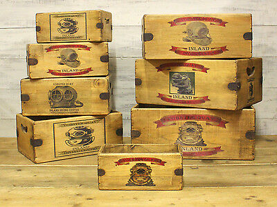 Vobster Quay Diving Vintage Box Wooden Crate Radstock Somerset Diving Gift