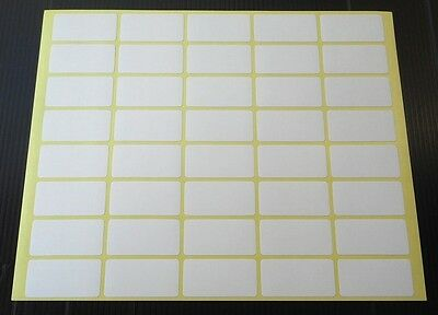 40 Small white stickers sticky labels 19X38 mm price stickers tags self adhesive
