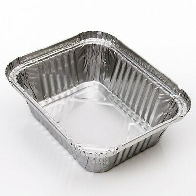 1000 x Foil Containers No 1 Aluminium - Hot Cold Food Takeaways