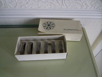 Vintage Retro Boxed Silver Plated Napkin Rings  x  6 - Florantal
