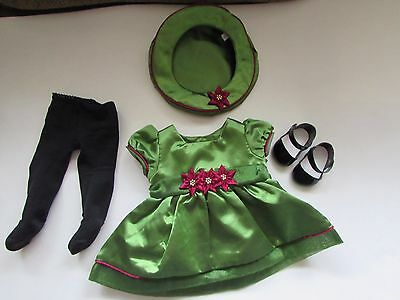 Retired American Girl Bitty Baby 2001 Poinsettia Dress Christmas Holiday Outfit