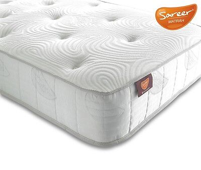 Lavish Sareer Latex Coil Mattress Available 2Ft6,3Ft,4Ft,4Ft6,5Ft,6Ft *Free P&P*