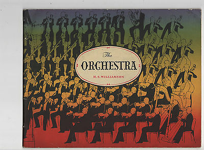 The Orchestra By H.s.williamson.sylvan Press. Illustration Instruments