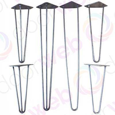 HAIRPIN TABLE LEGS Designer Vintage Retro Industrial Shabby Chic Antique Iron