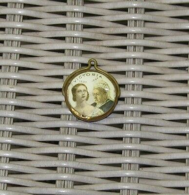 Queen Victoria Diamond Jubilee Watch Fob Prince of Wales Edward VII Celluloid