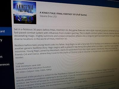 FINAL FANTASY XV 15 :A Kings Tale DLC PS4  Full DLC game Ps4 Playstation 4