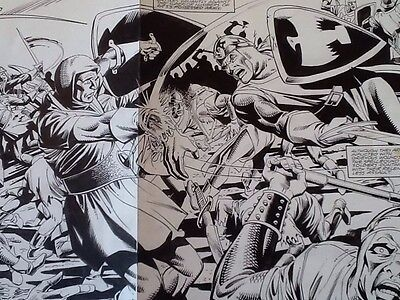 Batman: Dark Knight of the Round Table #2 pages 26/27 Original Art Dick Giordano
