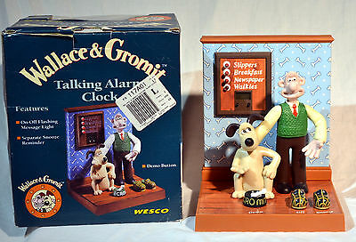 Wallace & Gromit Talking Alarm Clock in Box Never Used