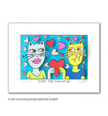"James Rizzi 3D Bild ""Just the two of us"" NEU Zertifikat drucksigniert"