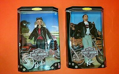 BARBIE HARLEY-DAVIDSON `97 BLONDE #1and '98 KEN #1 First in the series RARE LOT