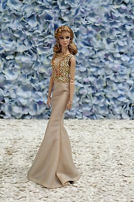 New Evening dress for Fashion royalty  / silkestone  by t.d.fashion 16/2/2 OOAK