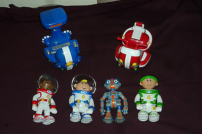 Fisher Price Planet Heroes Lot 4 Figures 2 Vehicles/Rides