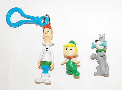 Jetson's 3 PVC Figures Astro George Elroy Jetson Cake Topper Toy Lot Clip