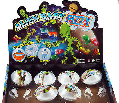 Set Of 6 Fizzing Alien UFO Bath Or Water Bombs - Party Bag Gifts