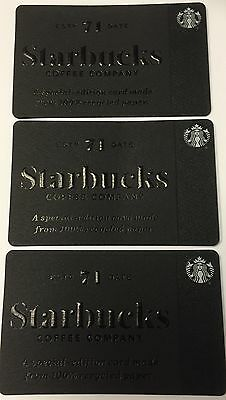 Lot of 3 Starbucks Card 2017 Special Edition Recycled Paper LIMITED CANADA NEW