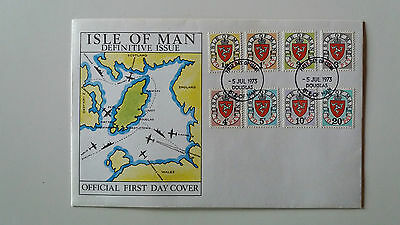 Stamps Isle Of Man  1973 Postage Dues Fdc