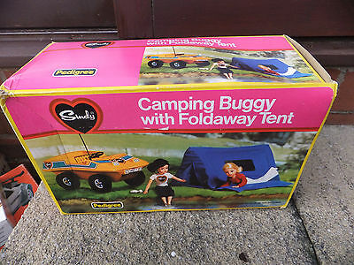 Sindy camping buggy, vintage boxed,  by Pedigree. Incomplete