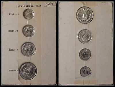 IRAN SH1342-43 1, 2, 5 & 10 Rials 4 Pc. Uncirculated Set