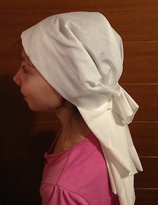 Headscarf Hat Headgear Veil Handmade WW1 WWI VAD Nurse Adult Girls 1915-30 style