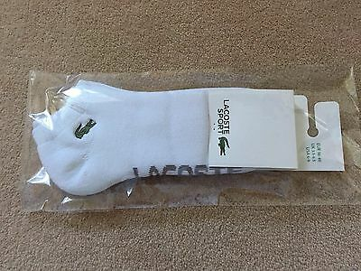 Lacoste Padded Sole Sports Socks 3.5-6-5 Quality Item