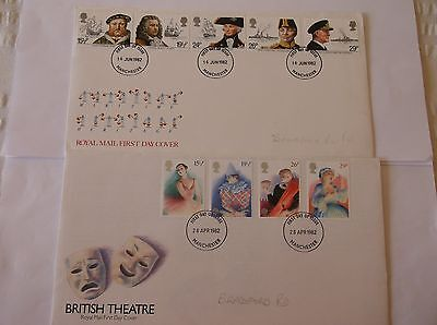 GB Stamps 1982 First Day Covers x2 No addresses
