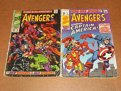 THE AVENGERS KING SIZE SPECIAL (silver age 2 issue lot) #2-3