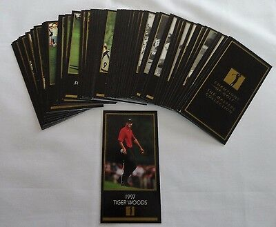 1997-98 Grand Slam Ventures Masters (62) Card Golf Set W/ Tiger Woods Rookie RC
