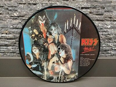 KISS Kiss This ! BOOTLEG LIVE UNOFFICIAL PICTURE DISC VINYL Gene Simmons +RARE+