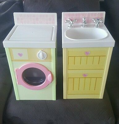 PLAYSKOOL ROSE PETAL COTTAGE PRETEND PLAY DRYER KITCHEN SINK House set