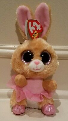 """TY Beanie Boos - TWINKLE TOES Ballerina Bunny 9"""" cute Easter Rabbit New w Tags!"""