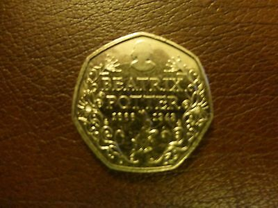 2016 BEATRIX POTTER 50p COIN NICE CONDITION