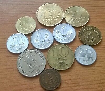 11 Hungarian Hungary Coins Forint