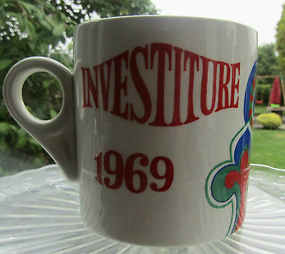 Rare Prince of Wales 1969 investiture mug Lord Nelson Pottery Marianne Zara and