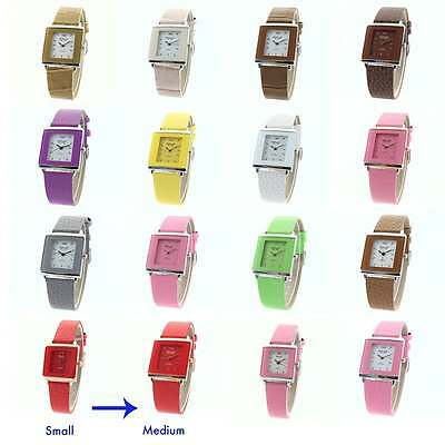New Ladies OMAX Classic Rectangle Fashion WATERPROOF Watch Retro leather Strap