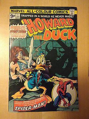 HOWARD THE DUCK #1 VG/F British priced