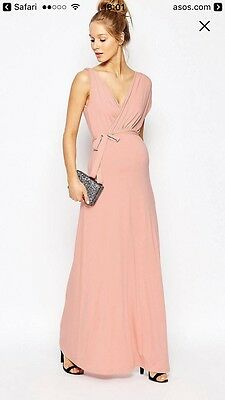 Asos Maternity Maxi Occasion Dress Size 8