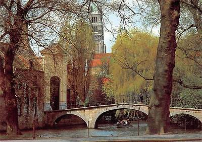 Belgium Brugge Entrance to the Beguinage Begijnhof Beguinenklosters Boat Bridge