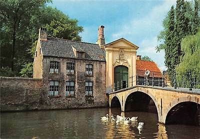 Belgium Brugges Entrance to the Beguinage Ingang Begijnhof Bridge