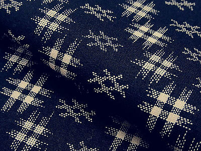 Japanese Fabric_Cotton_Navy,Kasuri_Half Yard,#m027