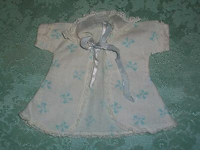 Vintage 50'S Vogue Ginnette/Ginny Doll Robe~White & Blue~Tagged