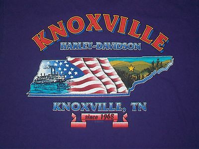 vintage Harley DAVIDSON KNOXVILLE t shirt L motorcycle purple