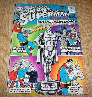 Dc National Comics Giant Superman Annual Issue #7 80 Pages - 1963