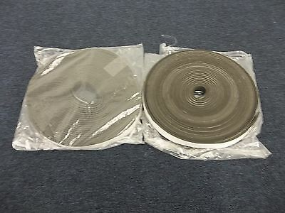 "2 Rolls Rubber Stripping Strip Door Window Air Cold Weather 100' 1"" Adhesive New"