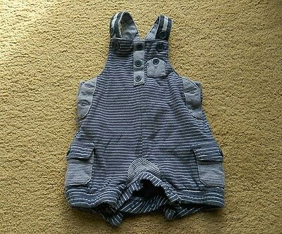 Next Baby Boy Blue Short Dungarees Age 3-6 Months