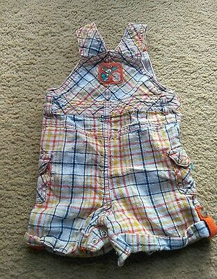 M&S Baby Boy Short Dungarees Age 3-6 Months